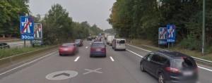 fin d'autoroute vers bruxelles