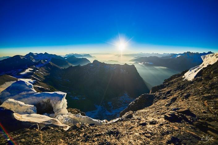 Ascension et nuit sur le mont Buet 3100 mètres