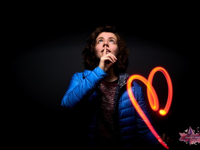 Light Painting pour sida sos a Namur